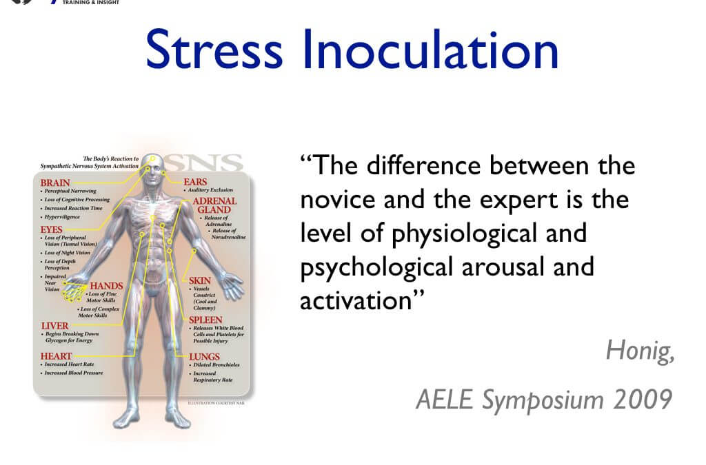 Stress inoculation in PMVA training courses