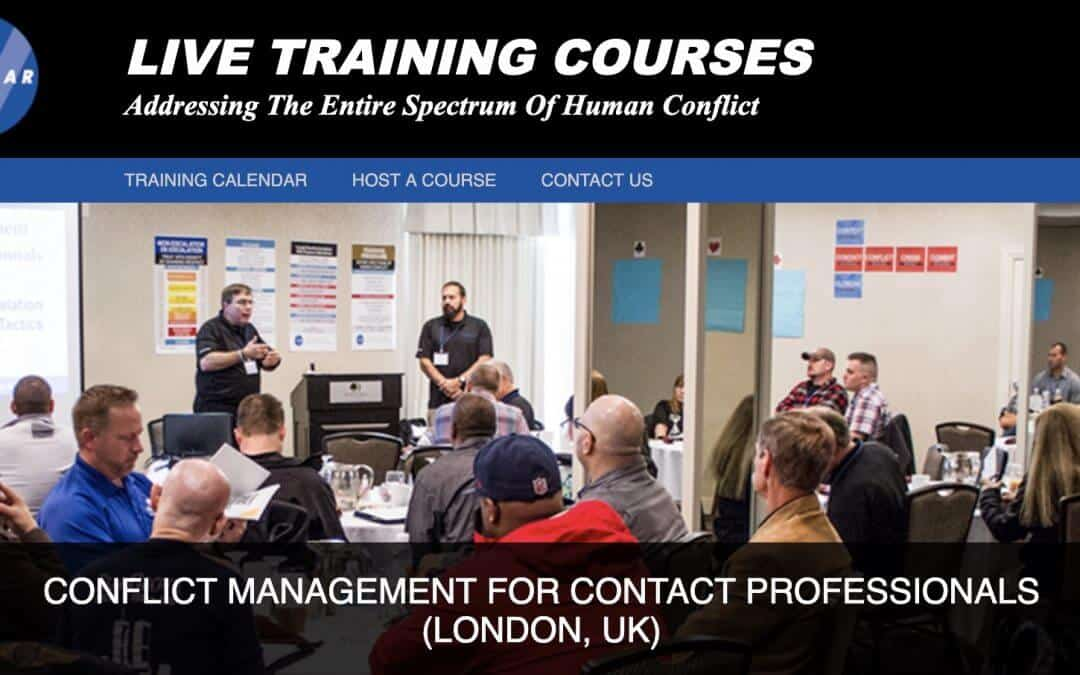 Conflict Management Trainer Course – December 2019