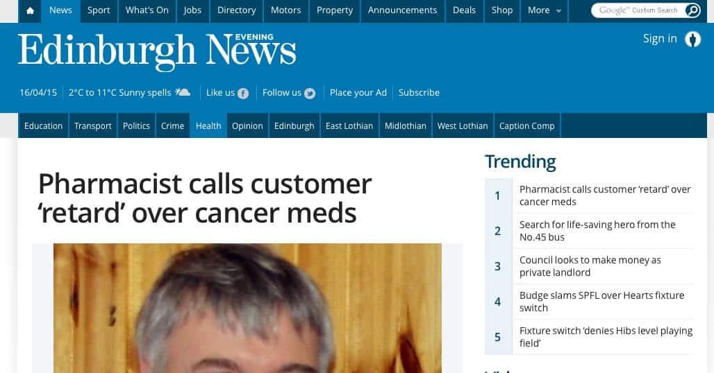 Pharmacist calls customer a retard - Verbal Defense and Influence
